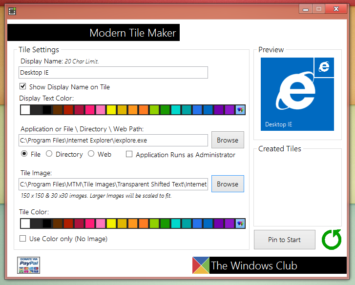 Modern Tile Maker - утилита для добавления плиток на стартовый экран (2)