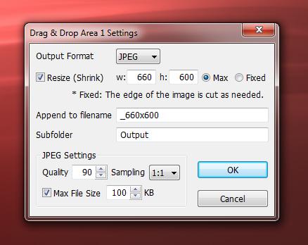 VarieDrop - портабельная программа для пакетного изменения размеров изображений в указанных папках (2)
