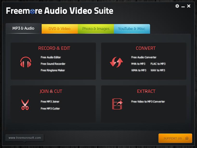 Freemore Audio Video Suite - универсальная программная сюита для обработки мультимедийных файлов (15)