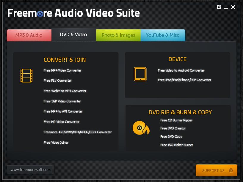 Freemore Audio Video Suite - универсальная программная сюита для обработки мультимедийных файлов (14)