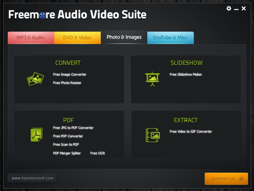 Freemore Audio Video Suite - универсальная программная сюита для обработки мультимедийных файлов (13)
