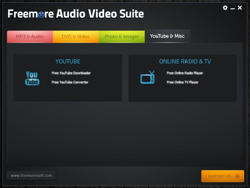 Freemore Audio Video Suite - универсальная программная сюита для обработки мультимедийных файлов (12)
