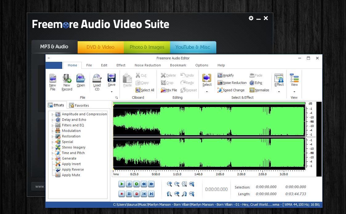 Freemore Audio Video Suite - универсальная программная сюита для обработки мультимедийных файлов (11)