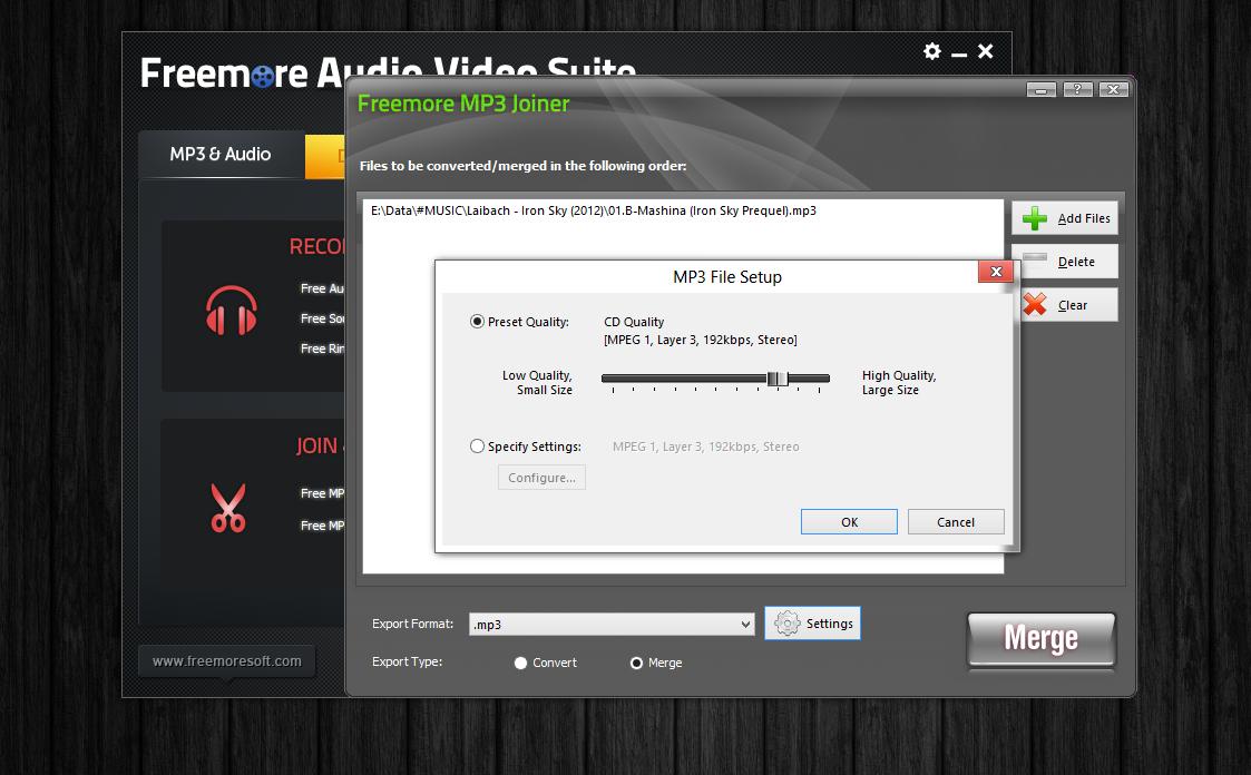 Freemore Audio Video Suite - универсальная программная сюита для обработки мультимедийных файлов (8)