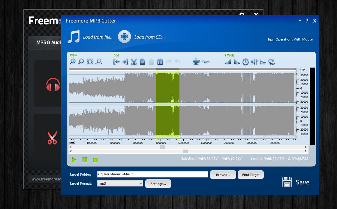 Freemore Audio Video Suite - универсальная программная сюита для обработки мультимедийных файлов (7)