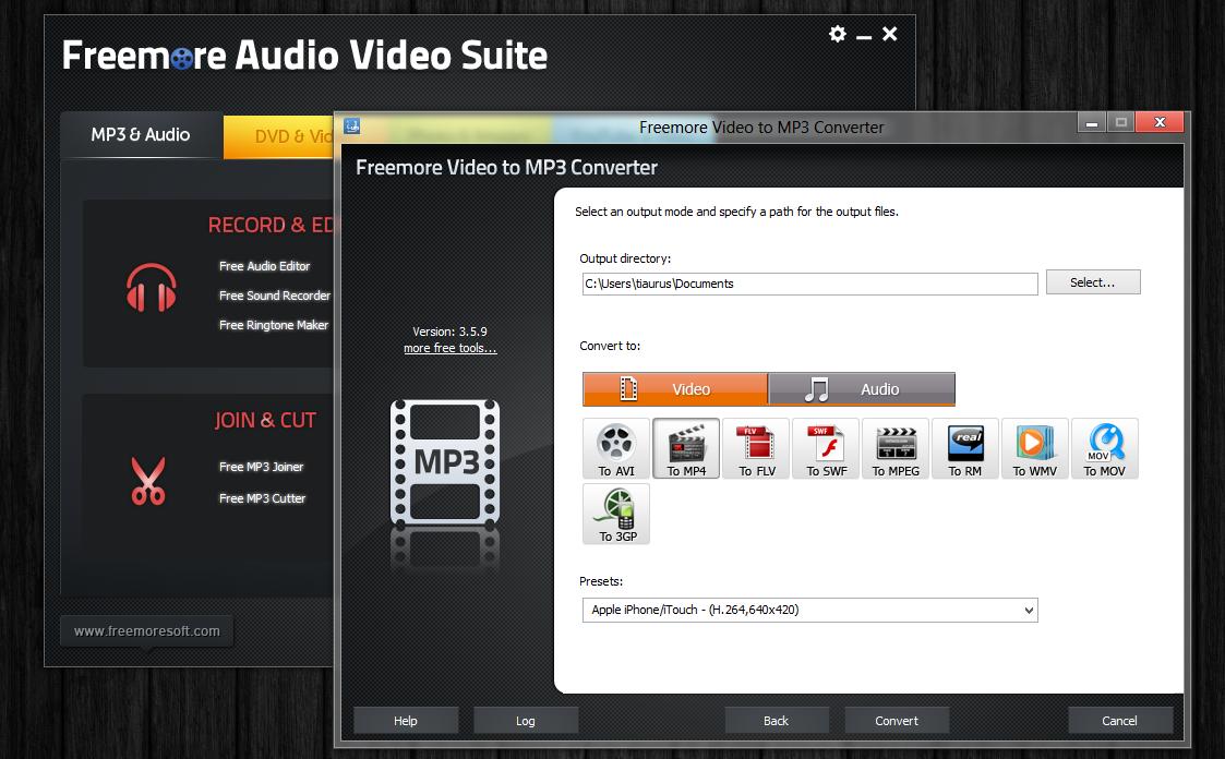 Freemore Audio Video Suite - универсальная программная сюита для обработки мультимедийных файлов (5)