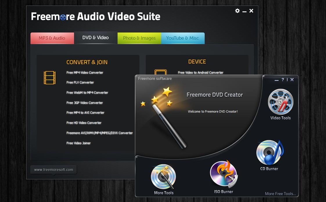 Freemore Audio Video Suite - универсальная программная сюита для обработки мультимедийных файлов (4)