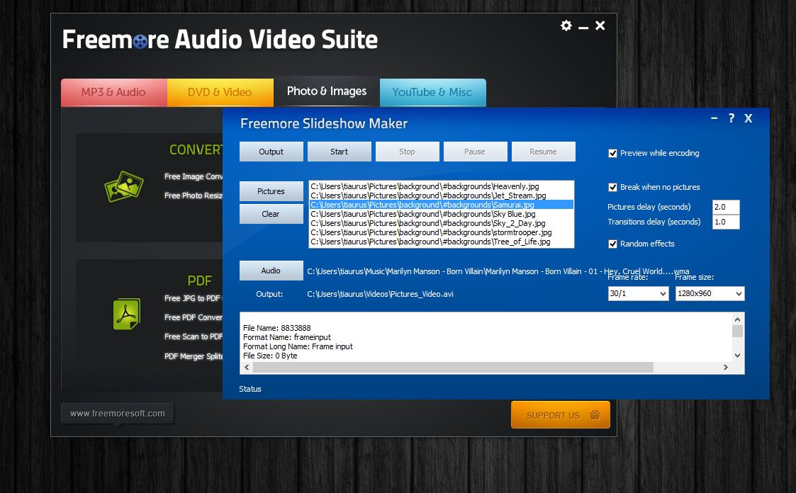 Freemore Audio Video Suite - универсальная программная сюита для обработки мультимедийных файлов (2)