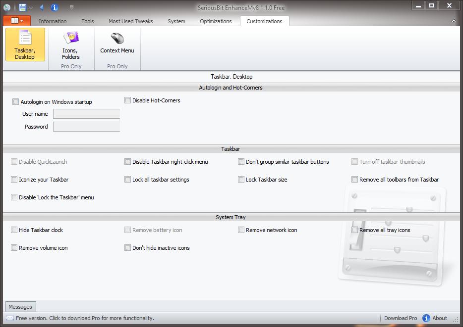 EnhanceMy8 - универсальный твикер для Windows 8 (1)