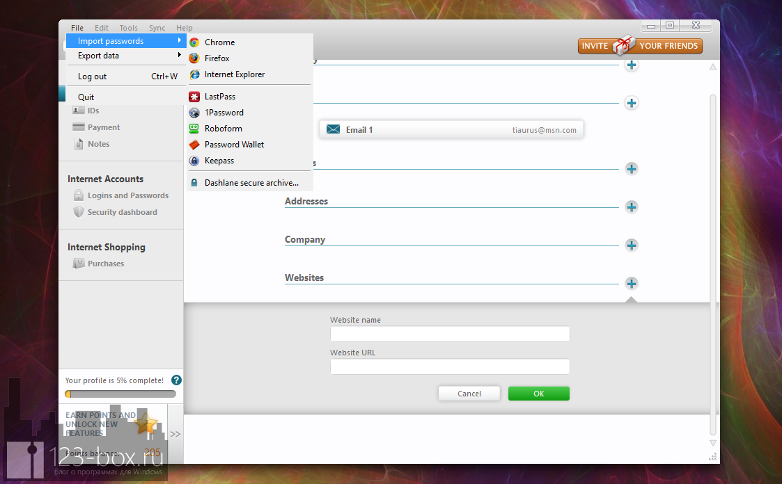 Dashlane - удобный менеджер паролей с автозаполнением (1)