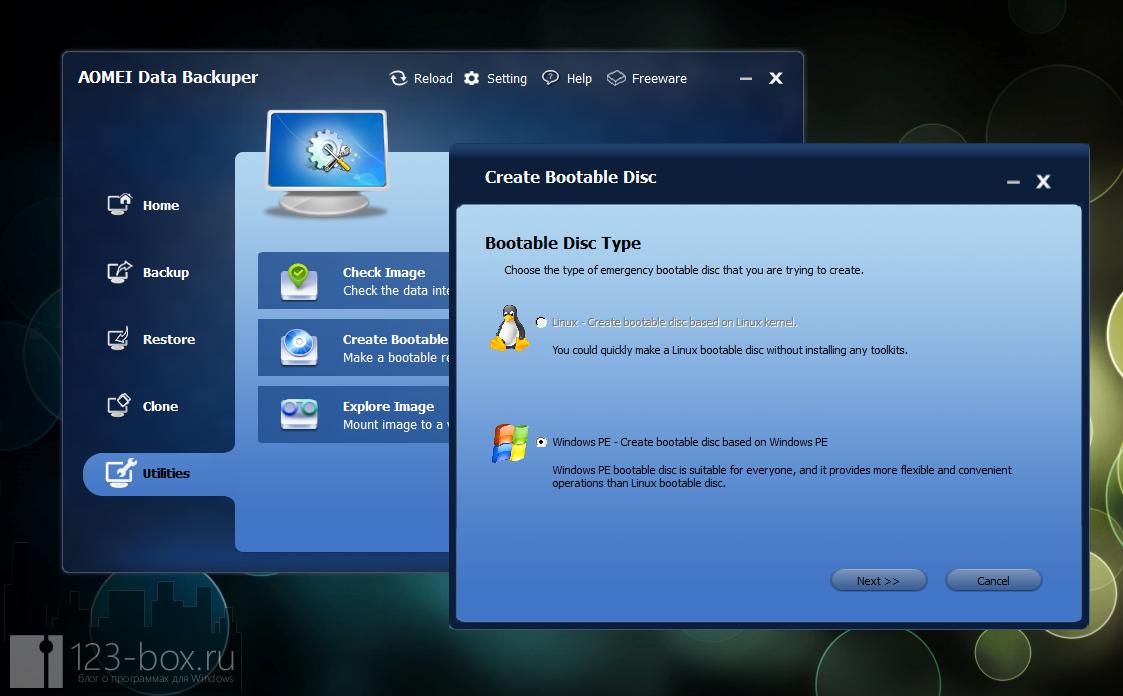 AOMEI Data Backuper - удобная программа для создания бэкапа и образов диска или раздела (2)