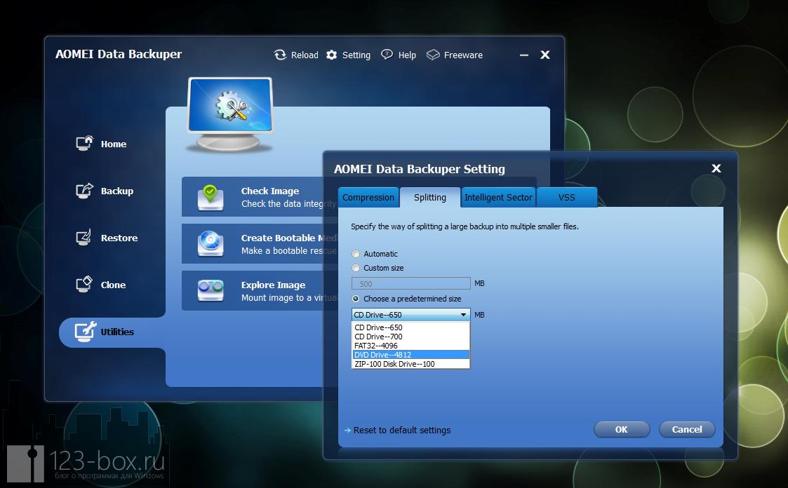 AOMEI Data Backuper - удобная программа для создания бэкапа и образов диска или раздела (1)