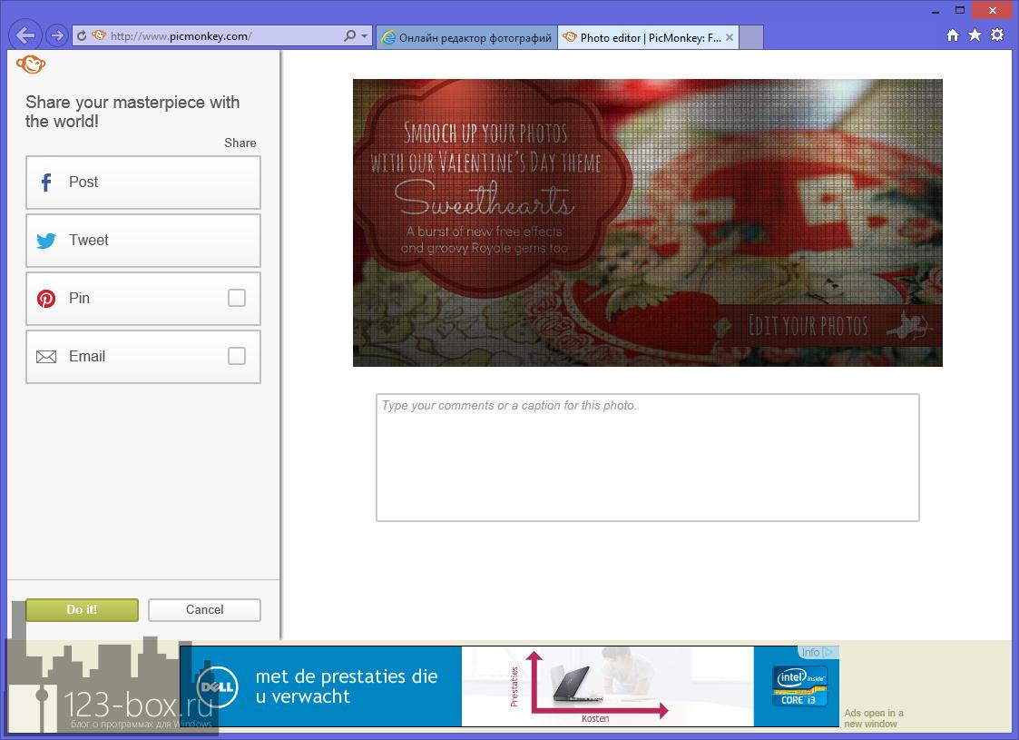 PicMonkey - удобный онлайновый фоторедактор с множеством встроенных эффектов и рамок (2)