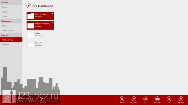 6 файловых менеджеров для Windows 8/RT - File Browser 01