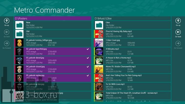 6 файловых менеджеров для Windows 8/RT - Metro Commander 01