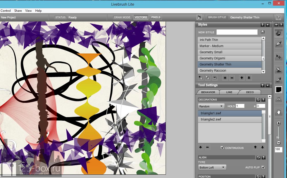 Livebrush - редактор для художников, иллюстраторов и графических дизайнеров с расширяемым набором элементов оформления (2)
