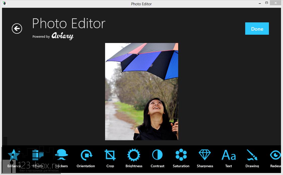 Фоторедактор Photo Editor от Aviary — простая и легкая программа для несложного редактирования фотографий на планшете