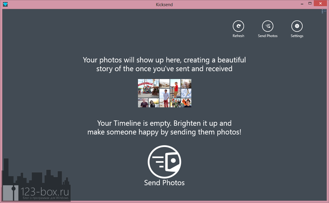 Kicksend - программа и веб-сервис для отправки фотоальбомов своим друзьям (7)