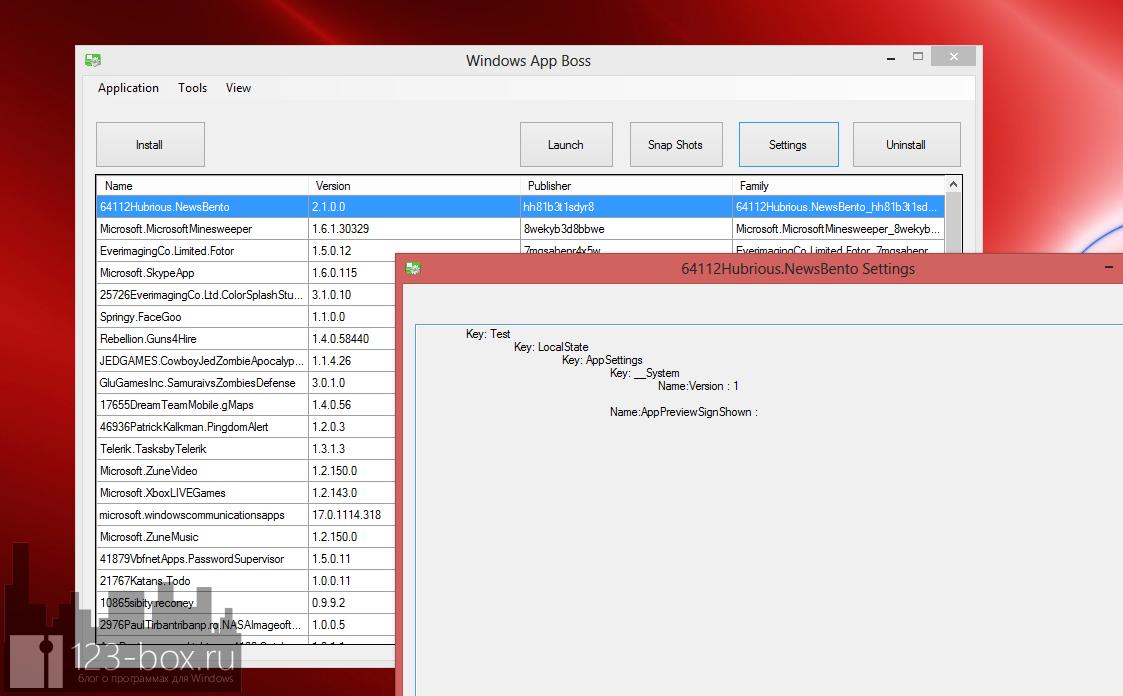 Windows App Boss - утилита для быстрого запуска и удаления Modern UI программ с рабочего стола (2)