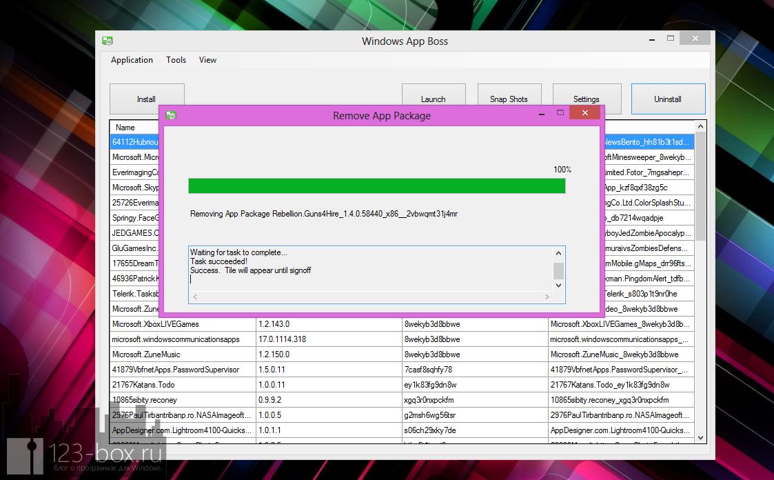Windows App Boss - утилита для быстрого запуска и удаления Modern UI программ с рабочего стола (1)