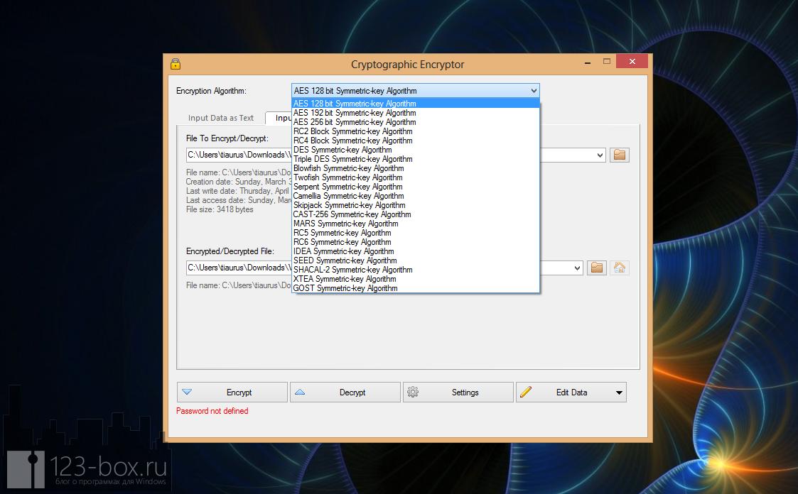 VSEncryptor - удобная, простая, портабельная программа для шифрования текста и файлов (5)