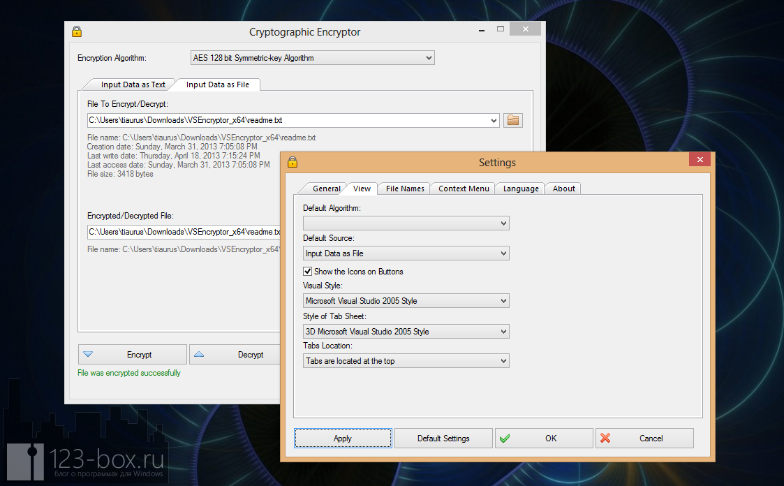 VSEncryptor - удобная, простая, портабельная программа для шифрования текста и файлов (4)