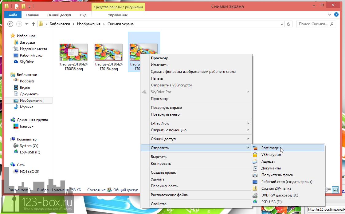 Postimage - удобная программа для создания скриншотов и отправки их в интернет (4)