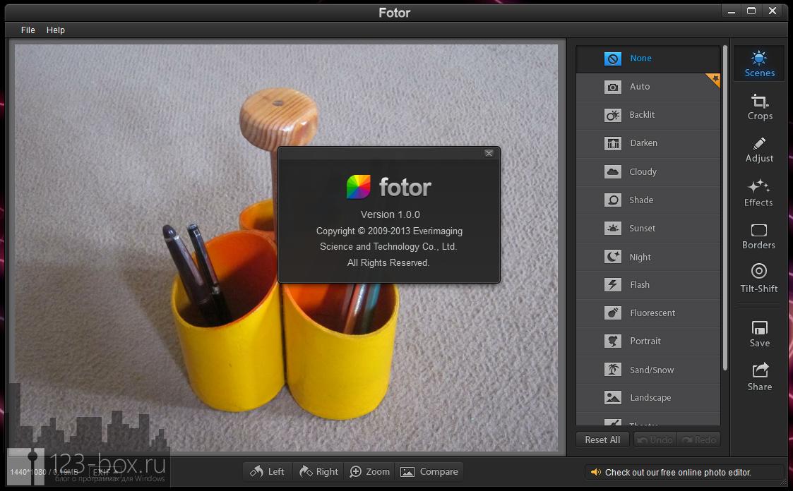 Fotor for Windows — простой, стильный редактор для добавления к снимкам модных фотоэффектов и фильтров