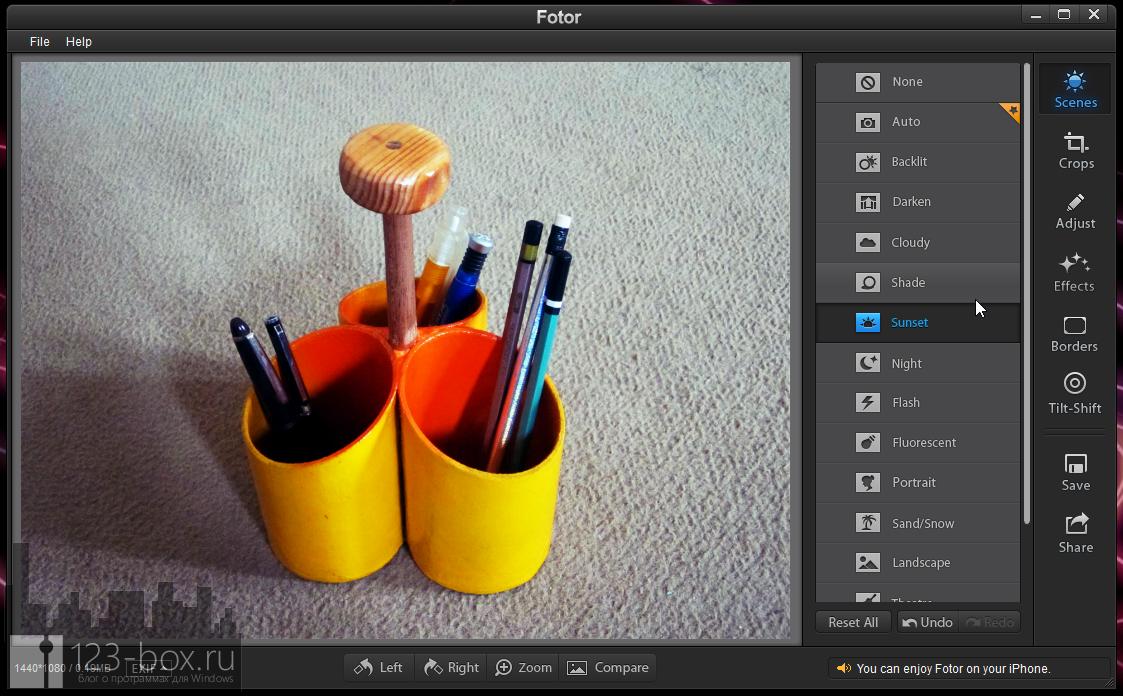 Fotor for Windows - простой, стильный редактор для добавления к снимкам модных фотоэффектов (8)