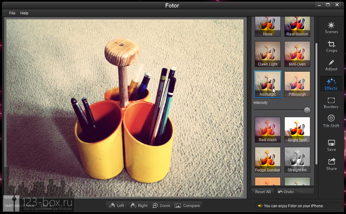 Fotor for Windows - простой, стильный редактор для добавления к снимкам модных фотоэффектов (5)