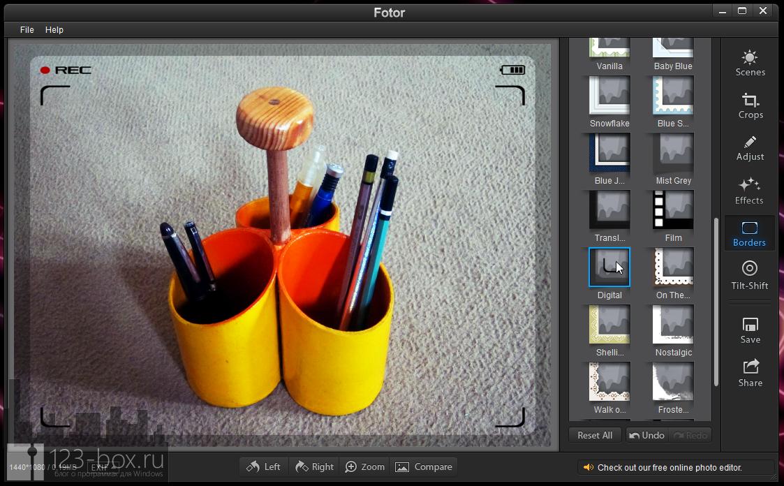 Fotor for Windows - простой, стильный редактор для добавления к снимкам модных фотоэффектов (4)
