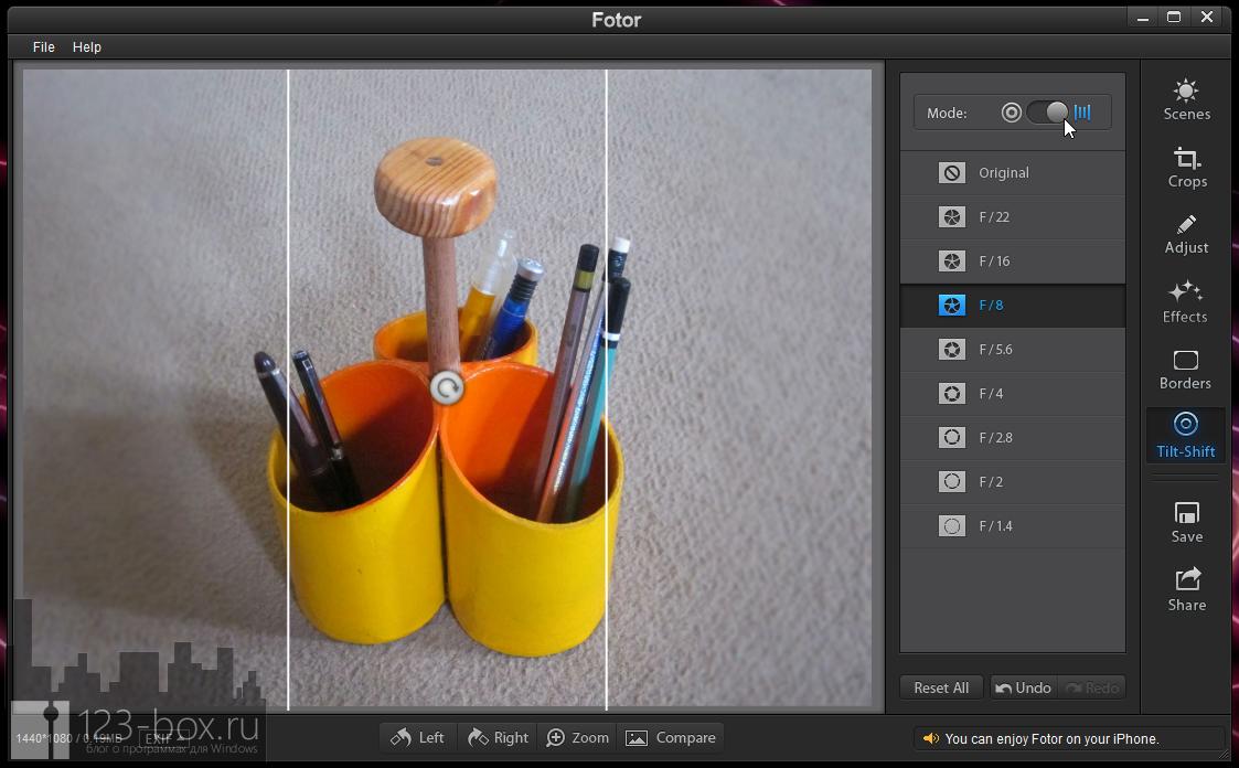Fotor for Windows - простой, стильный редактор для добавления к снимкам модных фотоэффектов (3)