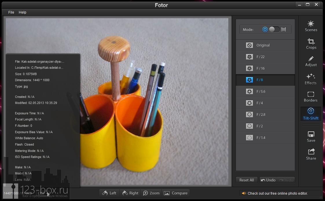 Fotor for Windows - простой, стильный редактор для добавления к снимкам модных фотоэффектов (10)