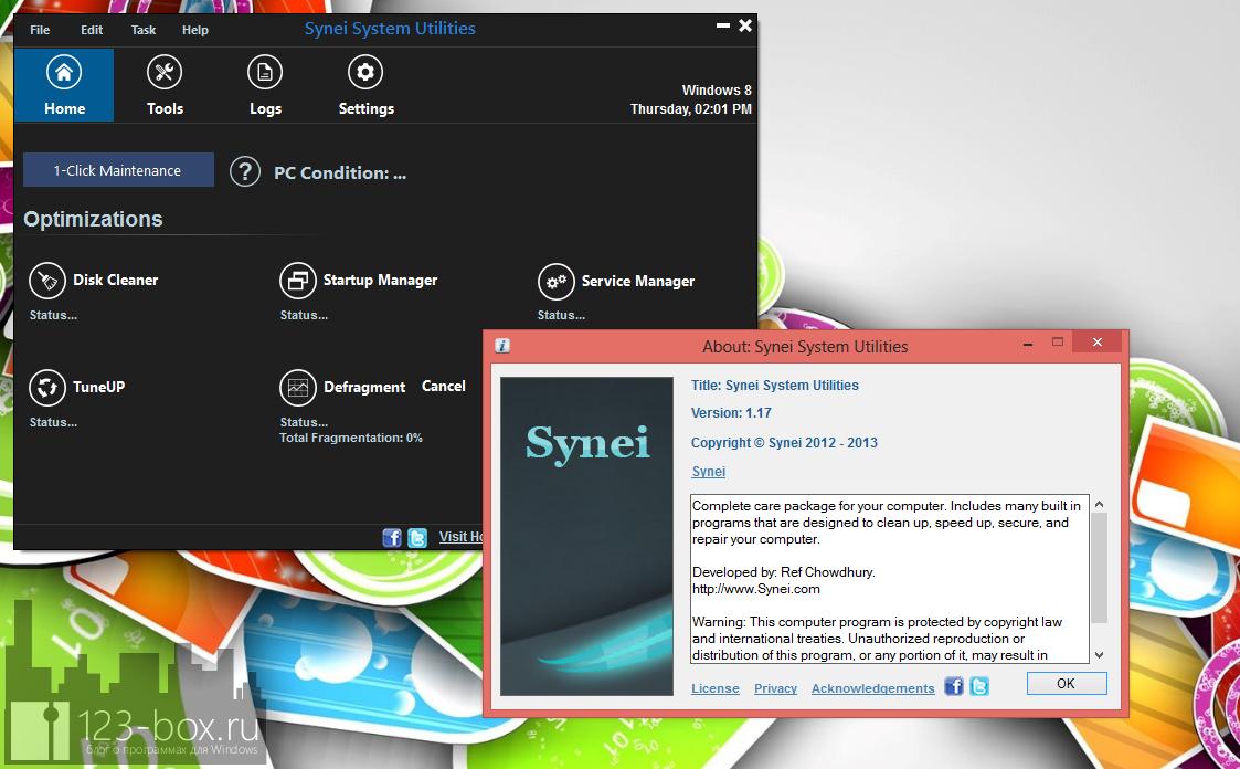 Synei System Utilities - портабельный комплекс утилит для оптимизации системы одним кликом (12)