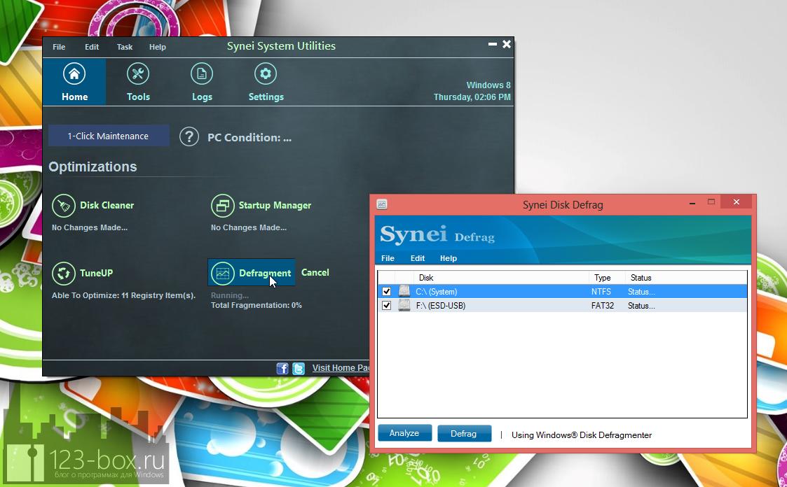 Synei System Utilities - портабельный комплекс утилит для оптимизации системы одним кликом (4)
