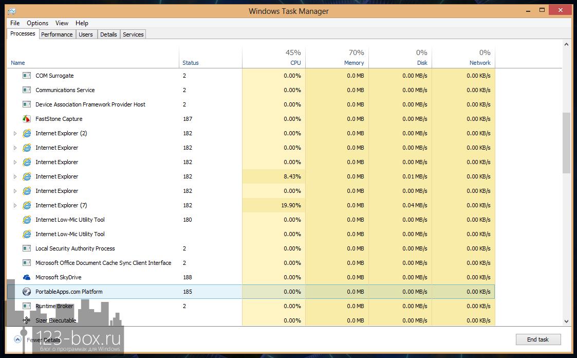 DBCTaskman - портабельный менеджер задач в стиле диспетчера задач Windows 8 (1)