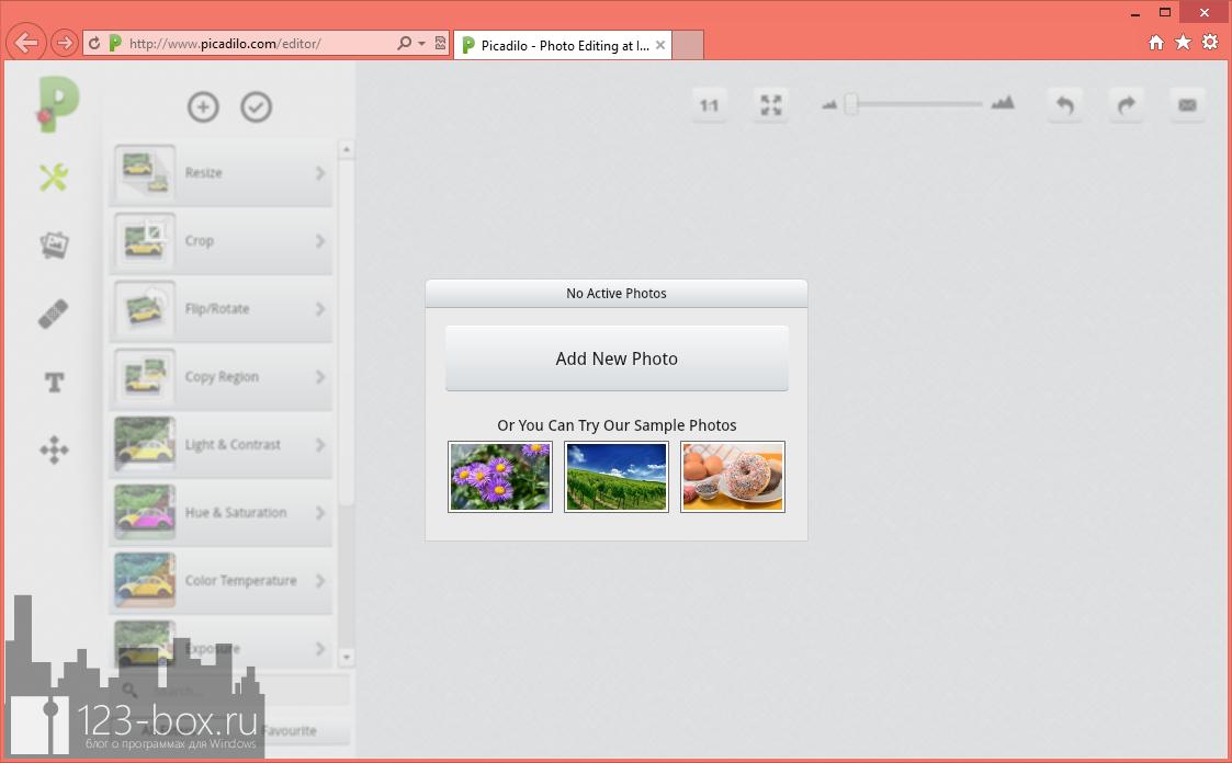 Picadilo - удобный онлайновый редактор изображений со множеством встроенных фильтров и эффектов (9)