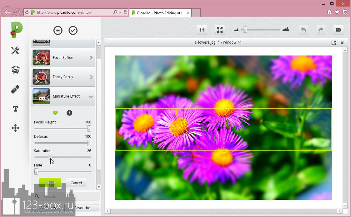 Picadilo - удобный онлайновый редактор изображений со множеством встроенных фильтров и эффектов (2)