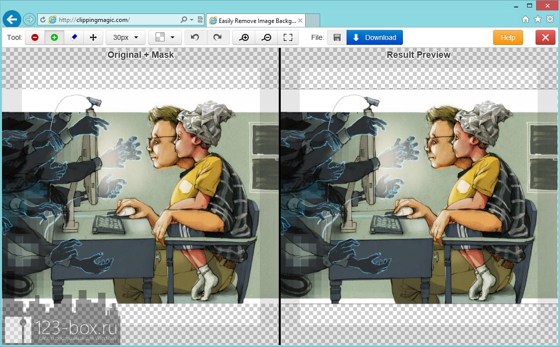 ClippingMagic.com - онлайновый сервис для точного обрезания объектов на изображениях (4)