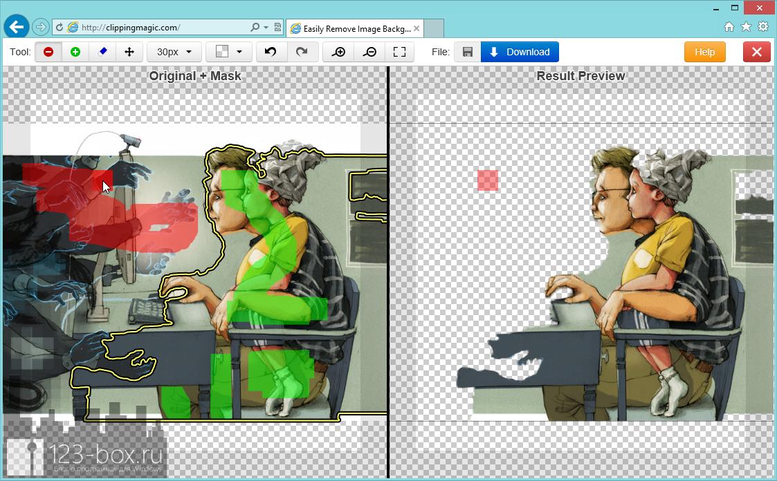 ClippingMagic.com - онлайновый сервис для точного обрезания объектов на изображениях (3)