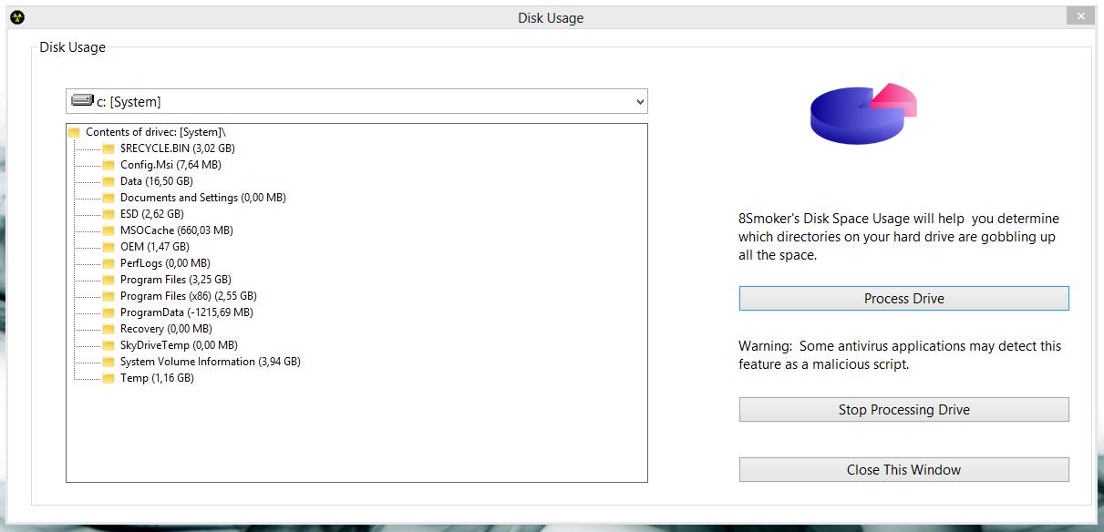 8Smoker Pro - универсальная утилита для настройки параметров Windows 8, оптимизации, мониторинга и поддержания работоспособности (10)