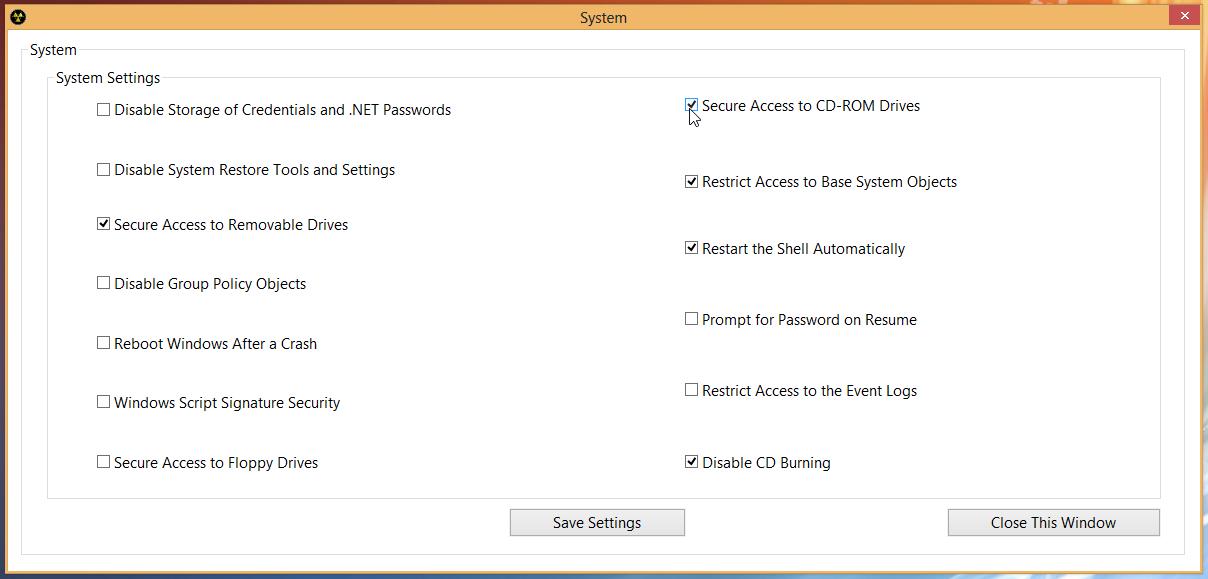 8Smoker Pro - универсальная утилита для настройки параметров Windows 8, оптимизации, мониторинга и поддержания работоспособности (12)