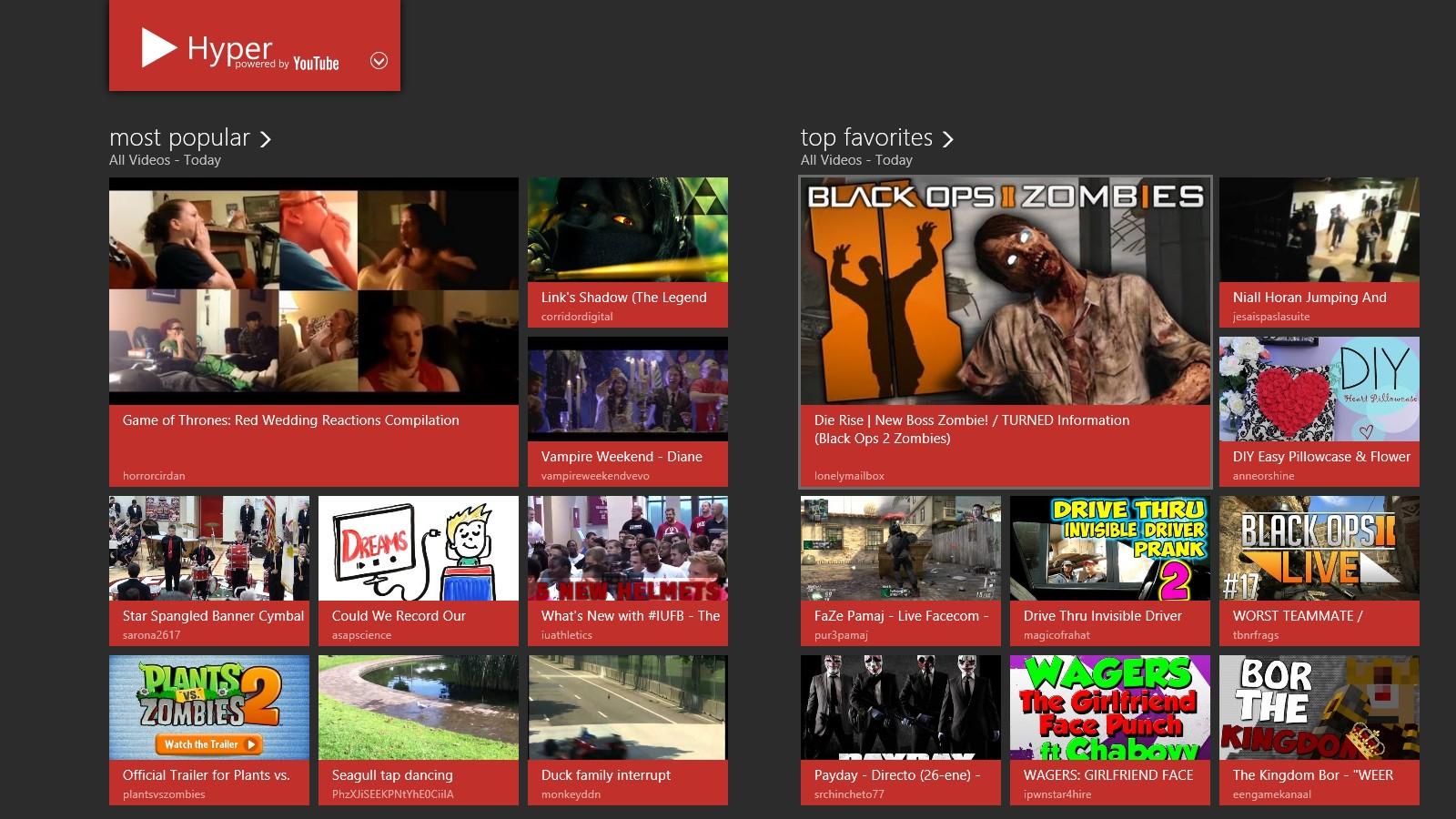 Hyper - удобная Modern UI программа для просмотра видео из YouTube (9)