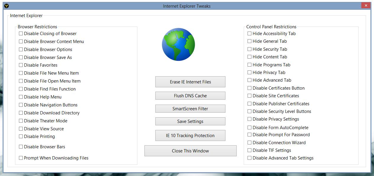 8Smoker Pro - универсальная утилита для настройки параметров Windows 8, оптимизации, мониторинга и поддержания работоспособности (3)