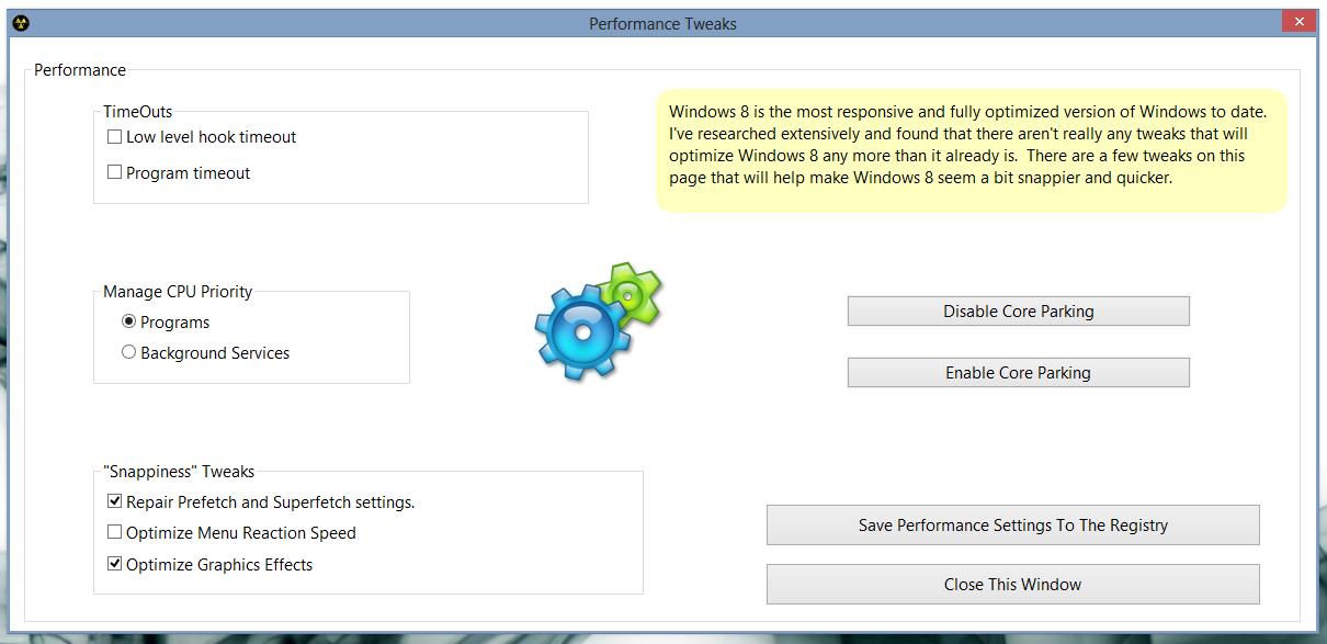 8Smoker Pro - универсальная утилита для настройки параметров Windows 8, оптимизации, мониторинга и поддержания работоспособности (2)