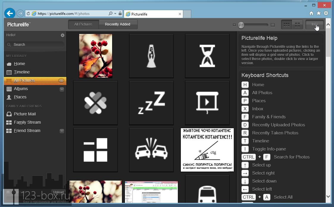 Picturelife - удобный онлайновый сервис для хранения фотографий с возможностями редактирования, синхронизации и отправкой в социальные сети (14)