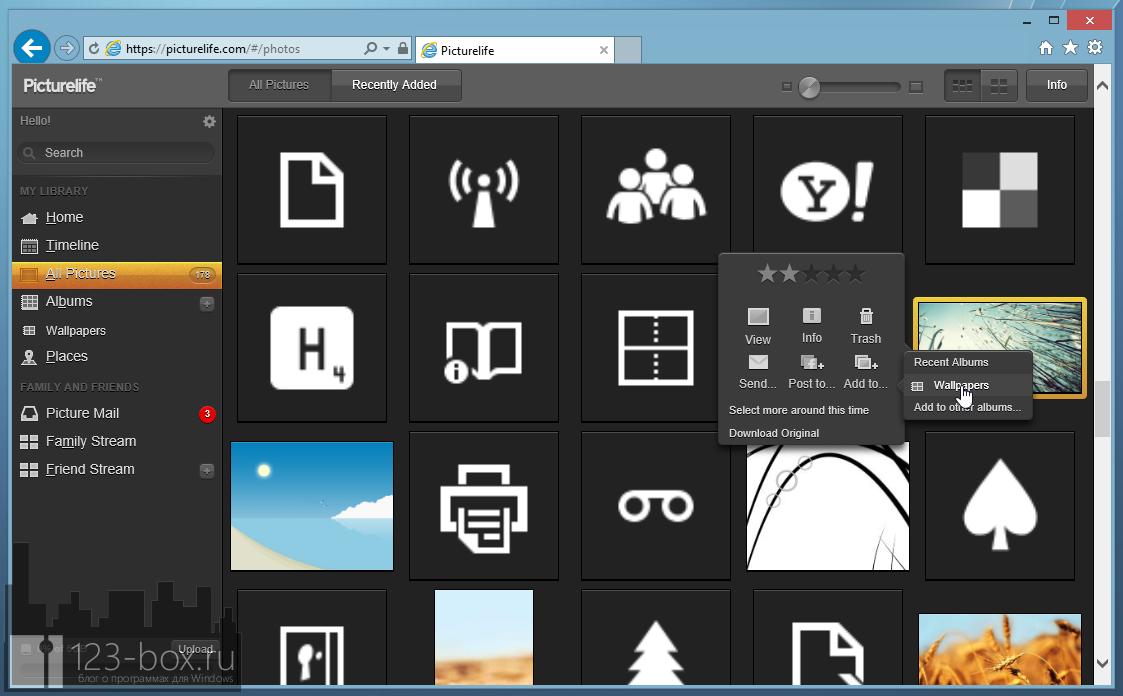 Picturelife - удобный онлайновый сервис для хранения фотографий с возможностями редактирования, синхронизации и отправкой в социальные сети (10)