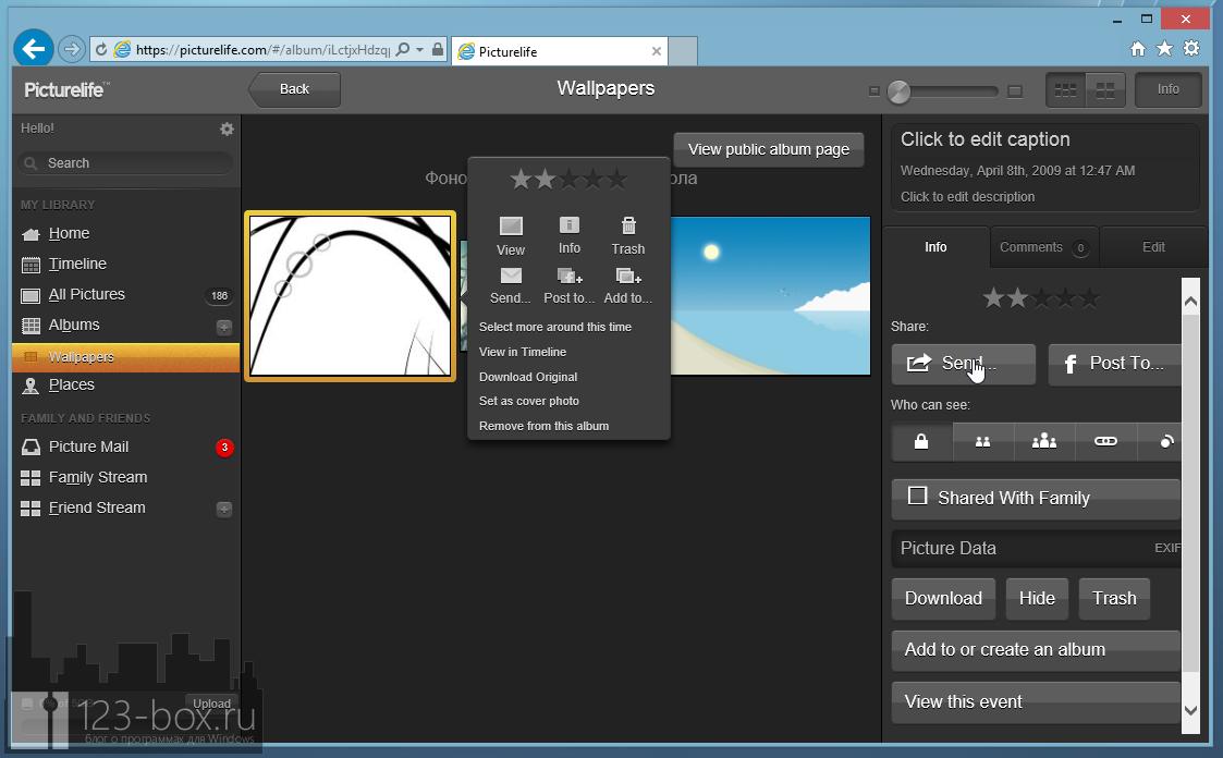 Picturelife - удобный онлайновый сервис для хранения фотографий с возможностями редактирования, синхронизации и отправкой в социальные сети (8)