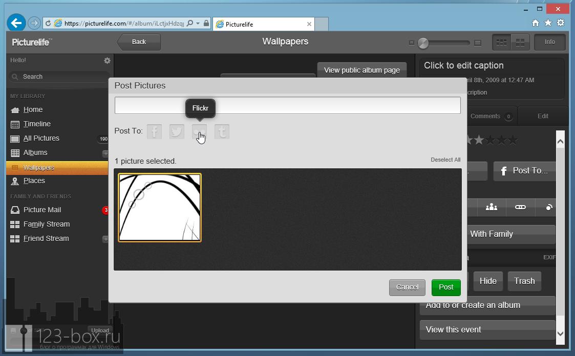 Picturelife - удобный онлайновый сервис для хранения фотографий с возможностями редактирования, синхронизации и отправкой в социальные сети (7)