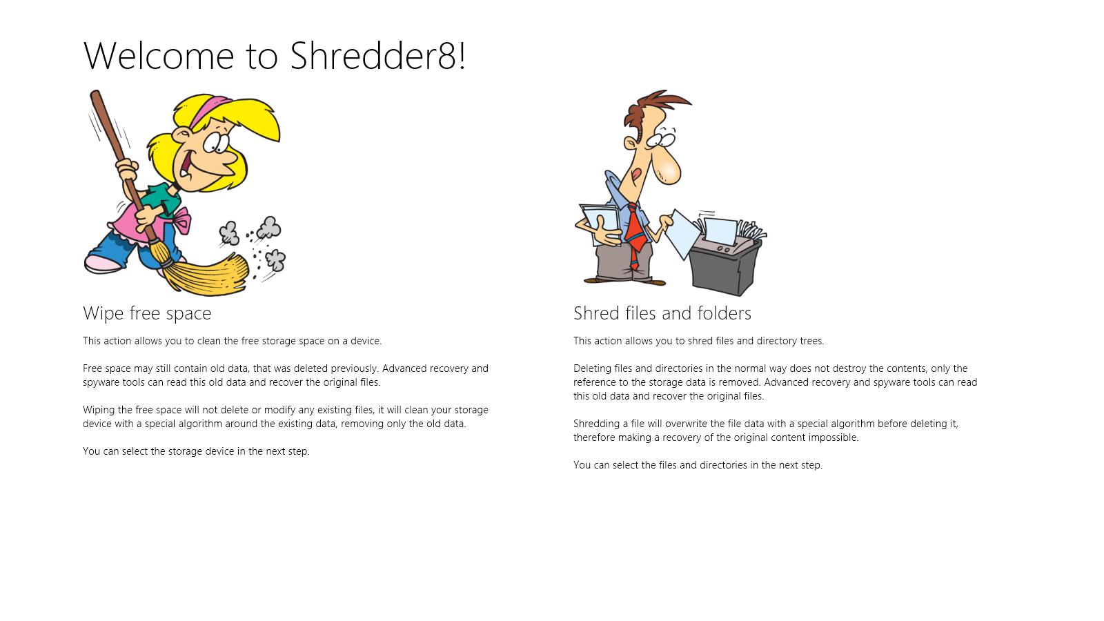 Shredder8 — программа для надежного, безвозвратного удаления файлов